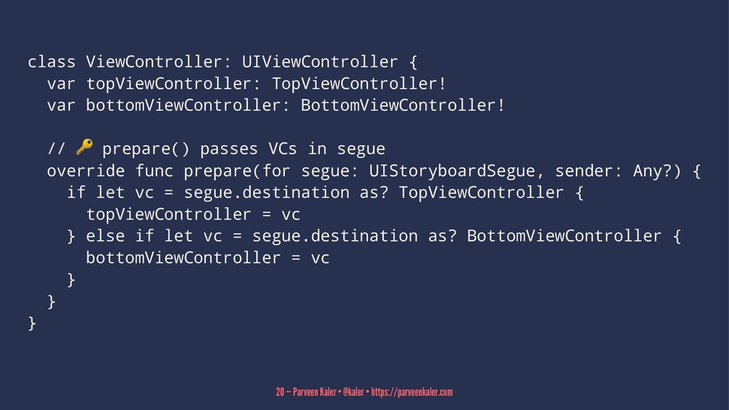 class ViewController: UIViewController { var to...