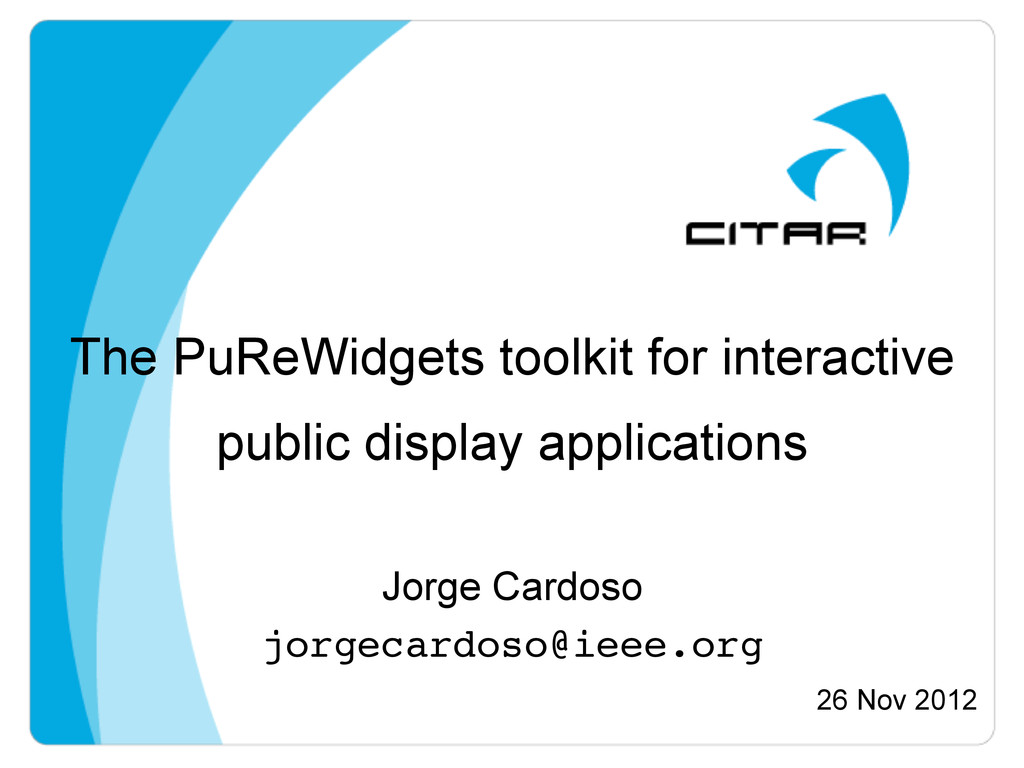 The PuReWidgets toolkit for interactive public ...