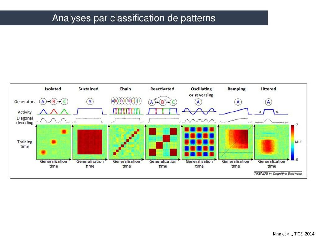 King et al., TICS, 2014 Analyses par classifica...