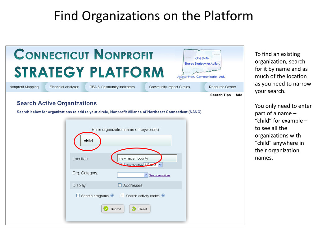 Find Organizations on the Platform To find an e...
