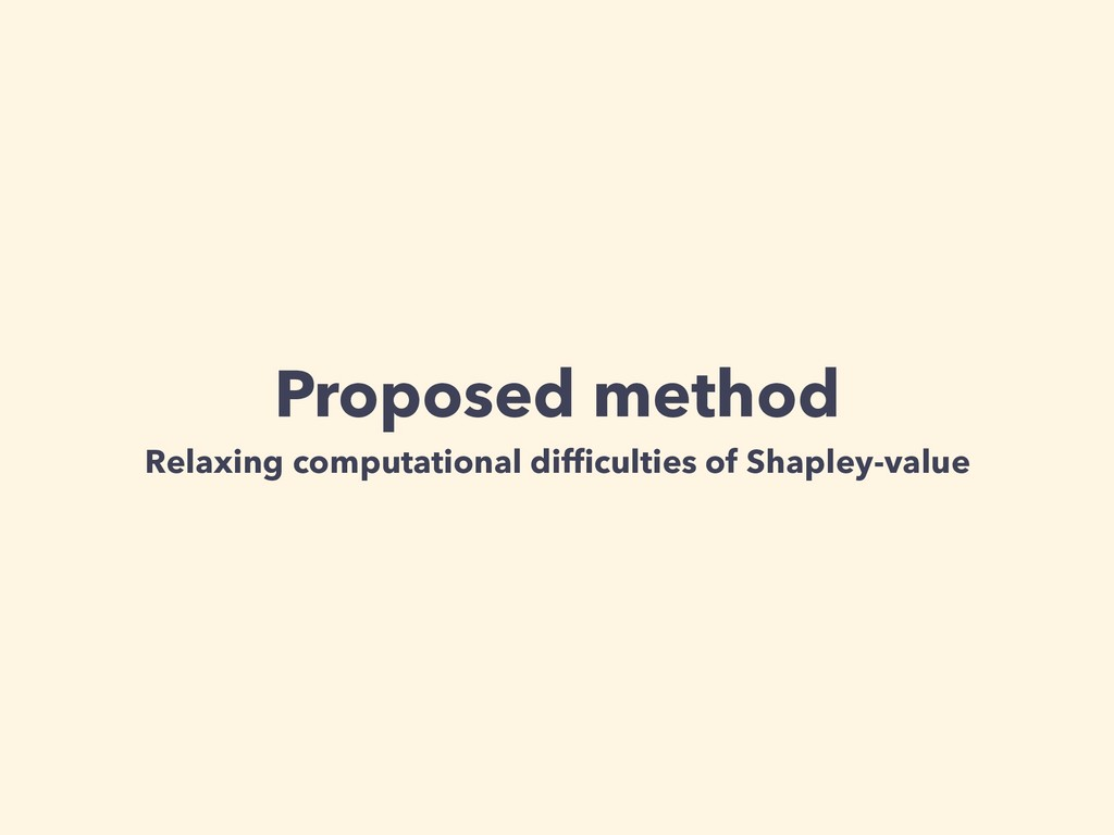 Proposed method Relaxing computational difficult...