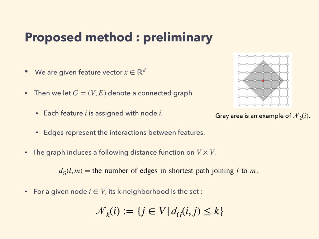 Proposed method : preliminary • We are given fe...