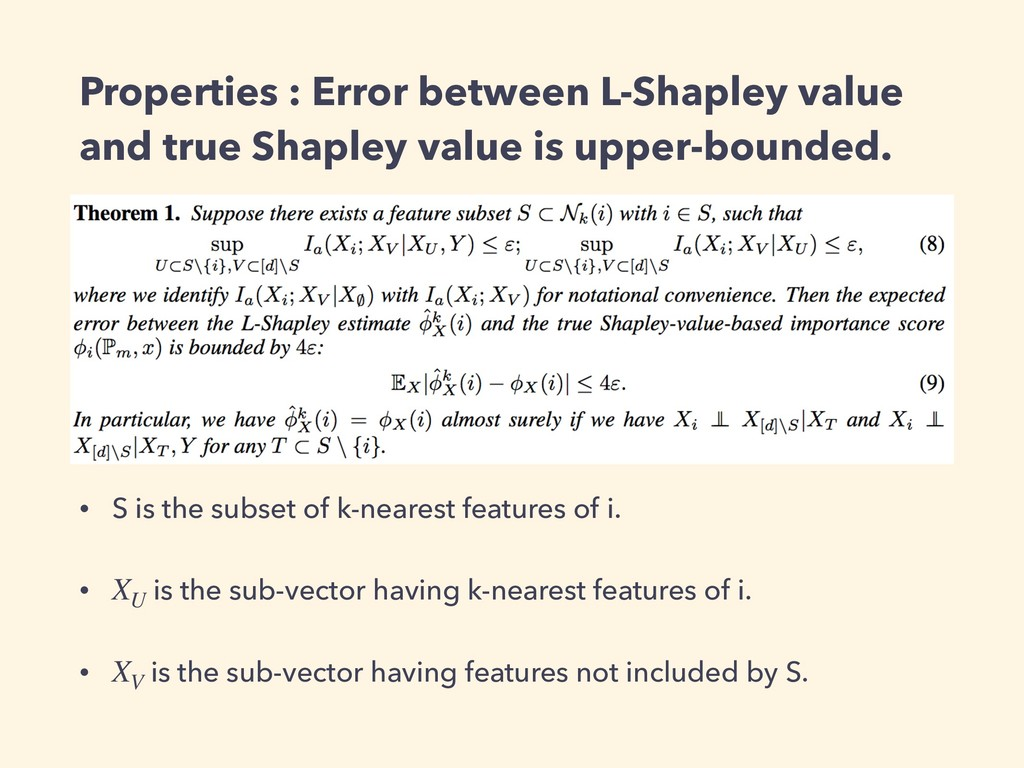 Properties : Error between L-Shapley value and ...