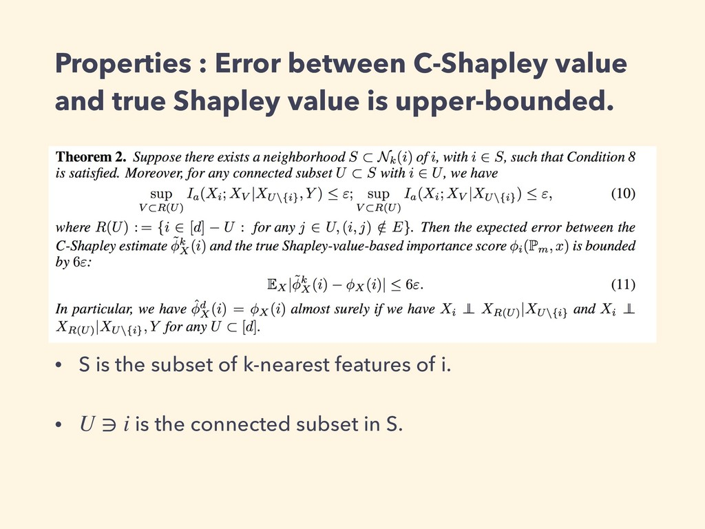 Properties : Error between C-Shapley value and ...