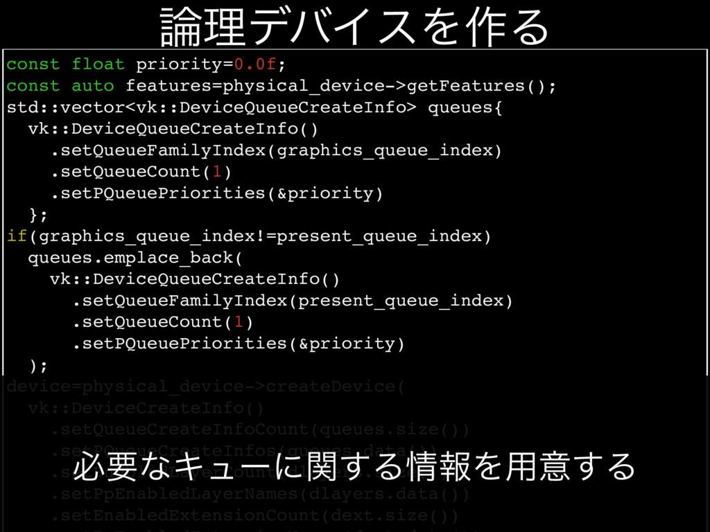 const float priority=0.0f; const auto features=...