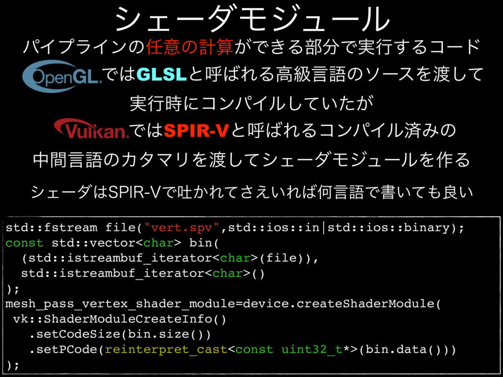 "std::fstream file(""vert.spv"",std::ios::in|std::..."