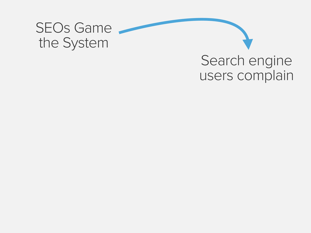 SEOs Game the System Search engine users compla...