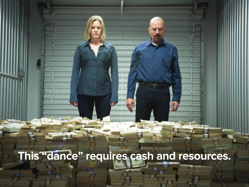 "This ""dance"" requires cash and resources."