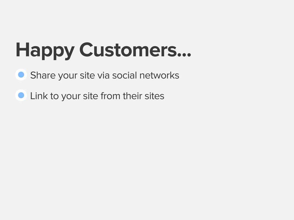 Happy Customers... Share your site via social n...