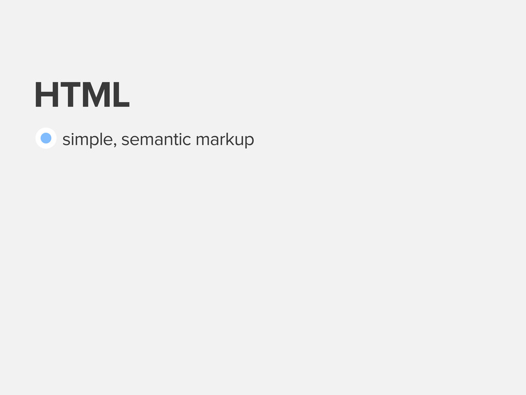 HTML simple, semantic markup