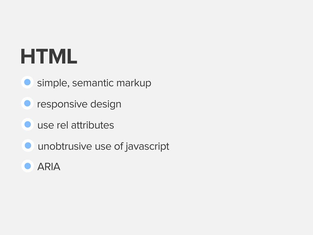 HTML simple, semantic markup responsive design ...