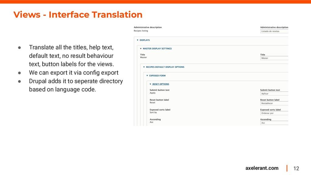 12 axelerant.com Views - Interface Translation ...