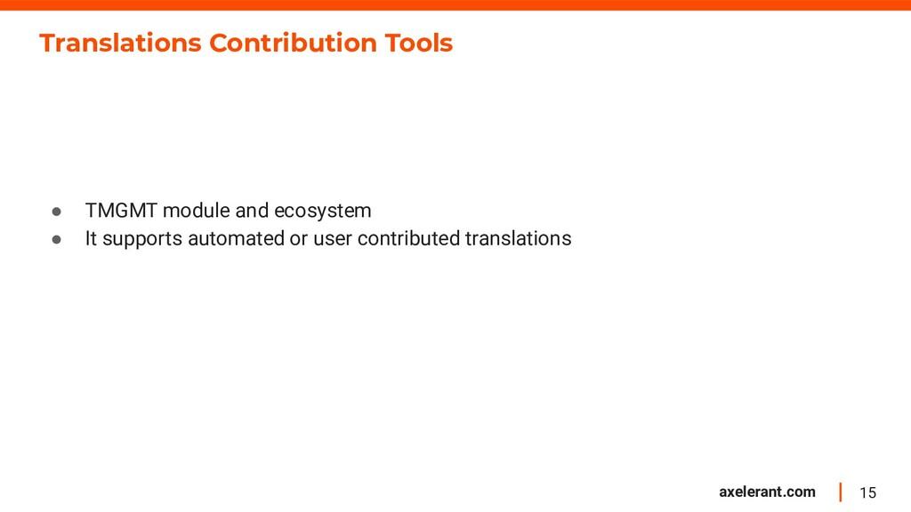 15 axelerant.com Translations Contribution Tool...
