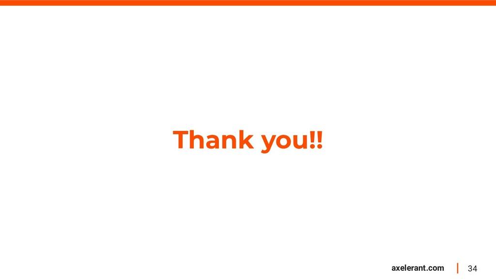 34 axelerant.com Thank you!!