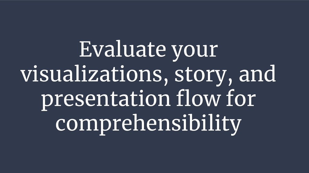 Evaluate your visualizations, story, and presen...