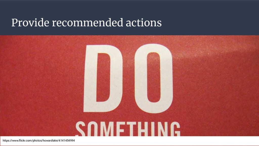 Provide recommended actions https://www.flickr.c...