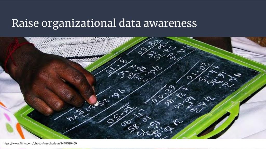 Raise organizational data awareness https://www...