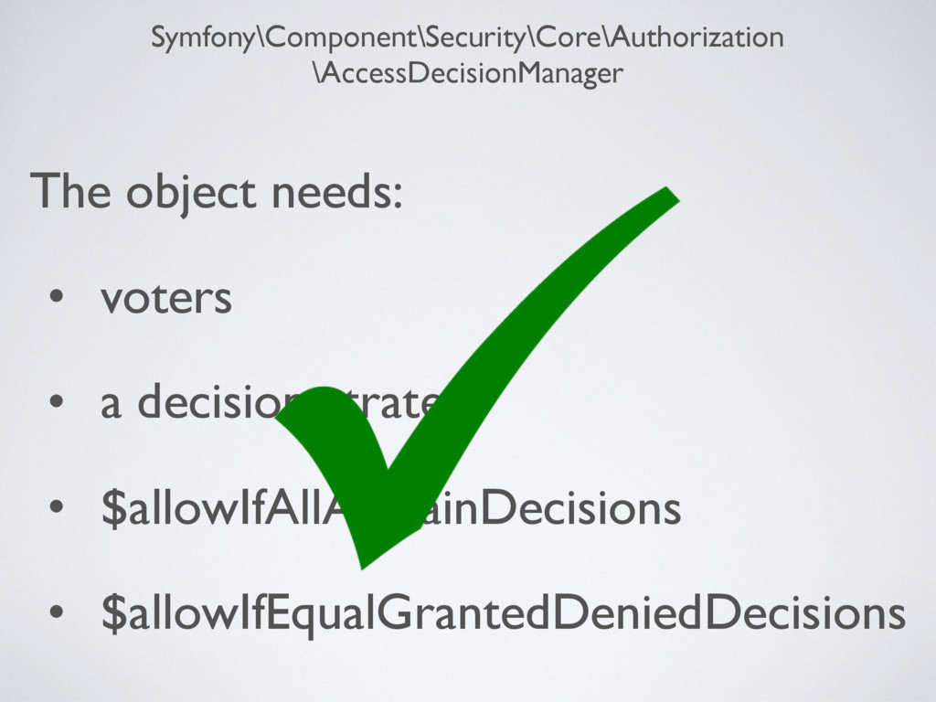 Symfony\Component\Security\Core\Authorization \...