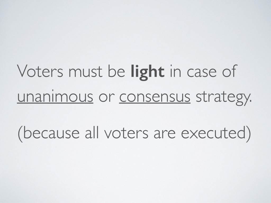 Voters must be light in case of unanimous or co...