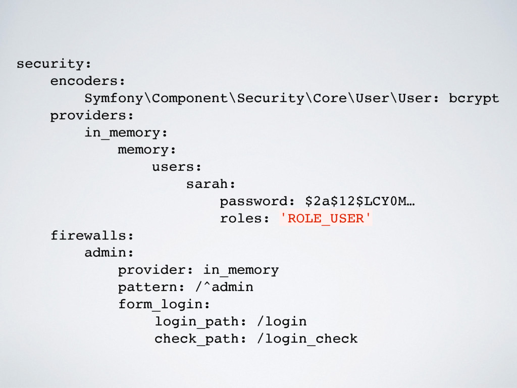 security: encoders: Symfony\Component\Security\...