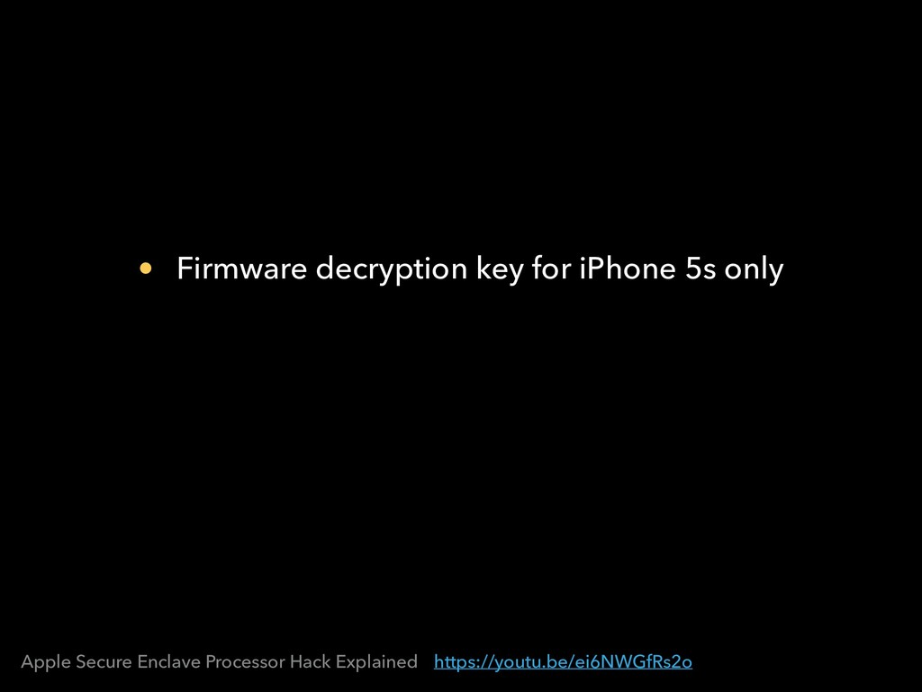 https://youtu.be/ei6NWGfRs2o Apple Secure Encla...