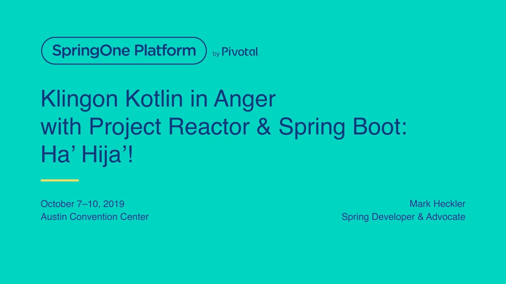 Klingon Kotlin in Anger with Project Reactor & ...