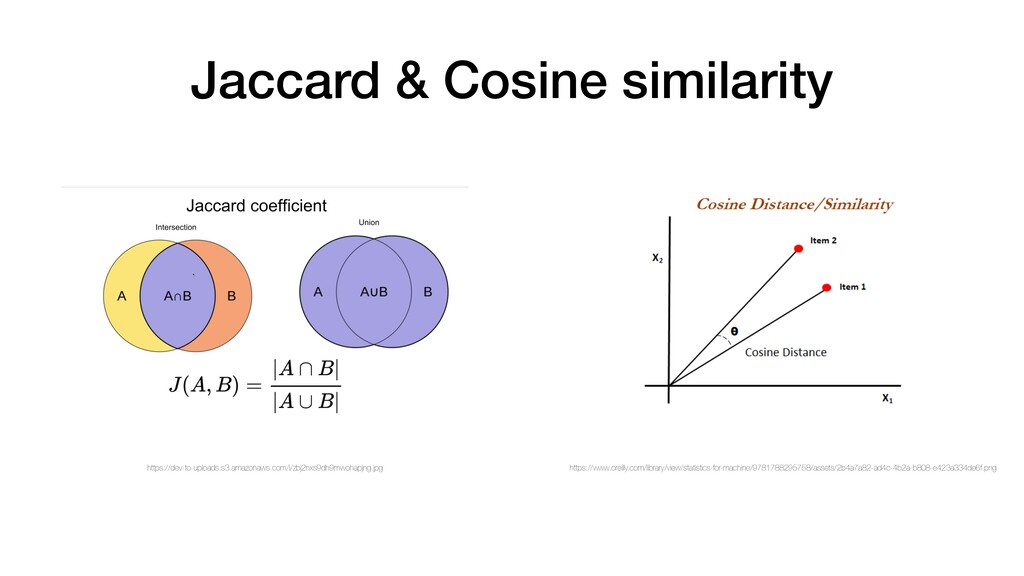 Jaccard & Cosine similarity https://dev-to-uplo...