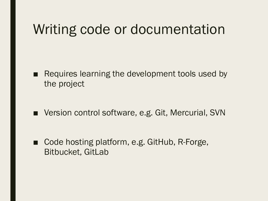 Writing code or documentation ■ Requires learni...