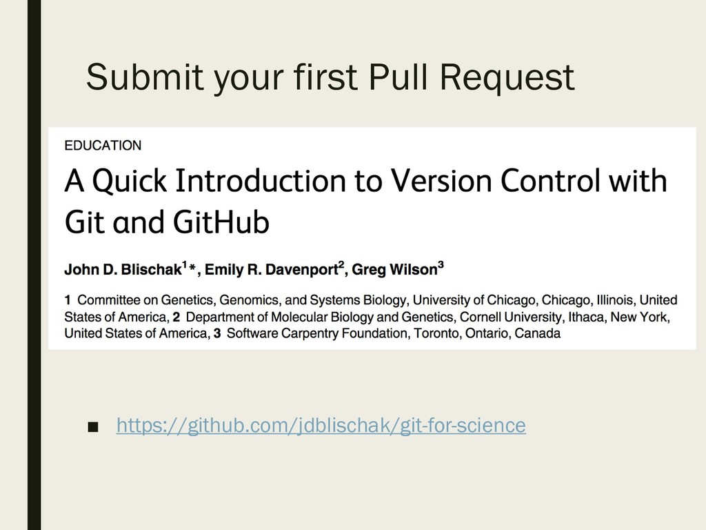 Submit your first Pull Request ■ https://github...