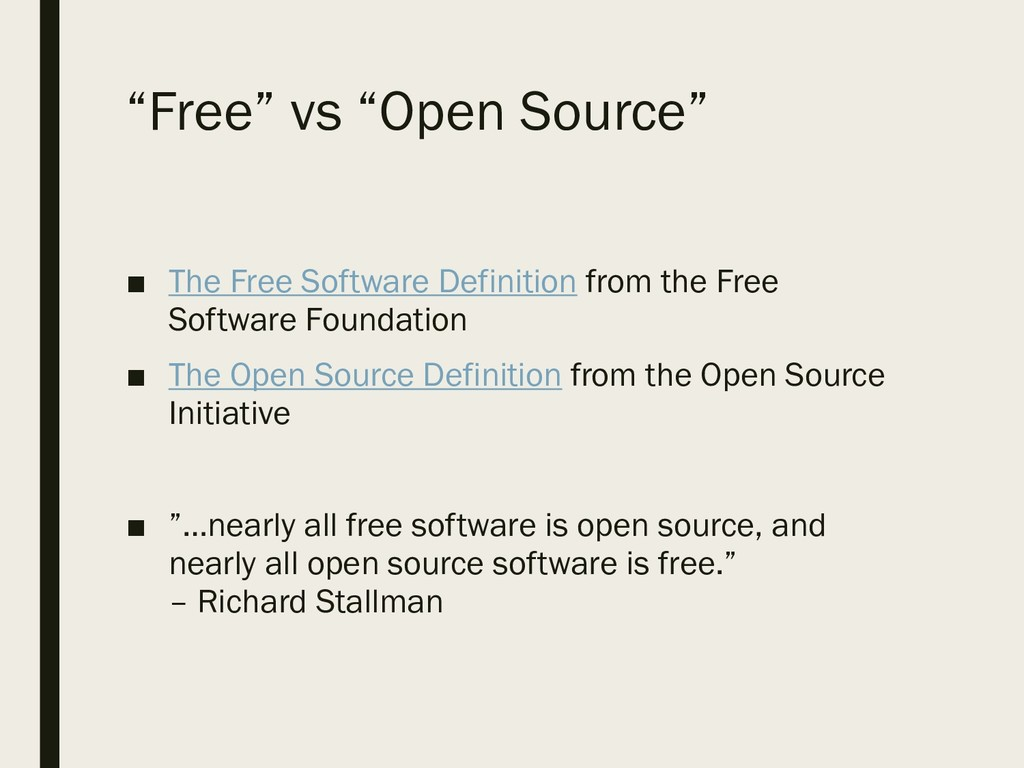 """Free"" vs ""Open Source"" ■ The Free Software Def..."