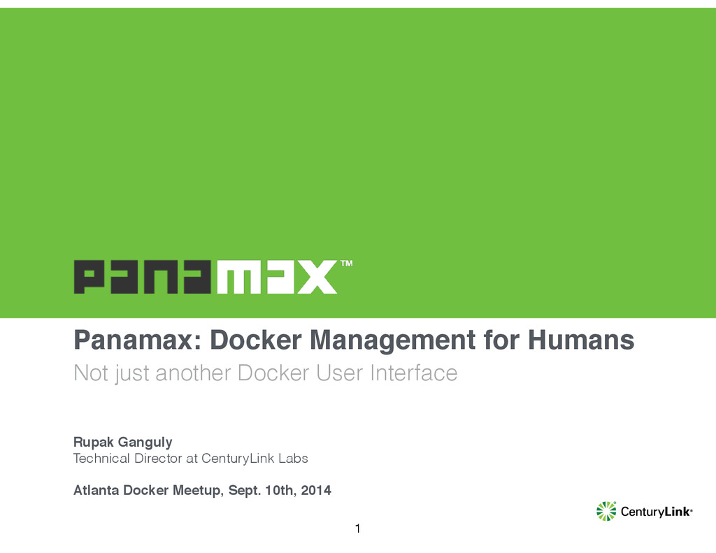 Panamax: Docker Management for Humans Not just ...