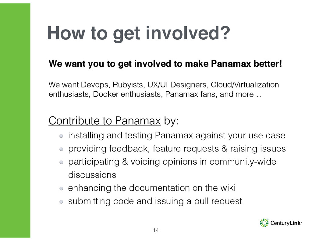 We want you to get involved to make Panamax bet...