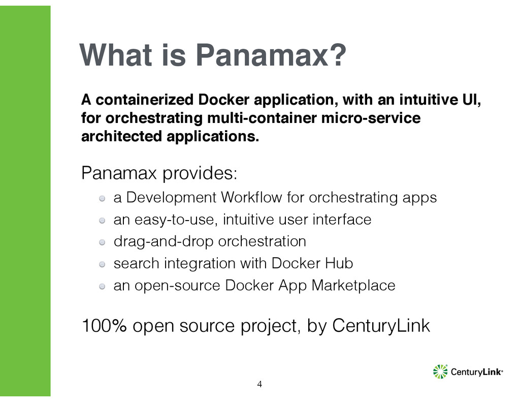 A containerized Docker application, with an int...