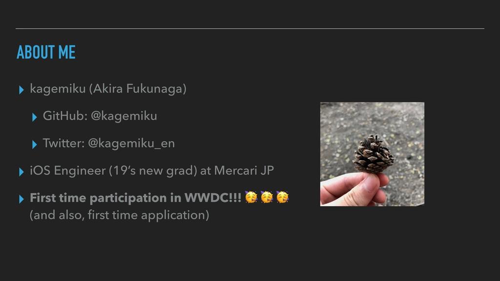 ▸ kagemiku (Akira Fukunaga) ▸ GitHub: @kagemiku...
