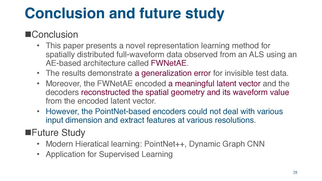 Conclusion and future study nConclusion • This ...