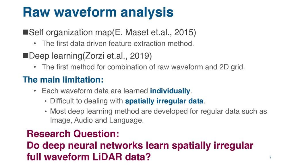 Raw waveform analysis nSelf organization map(E....