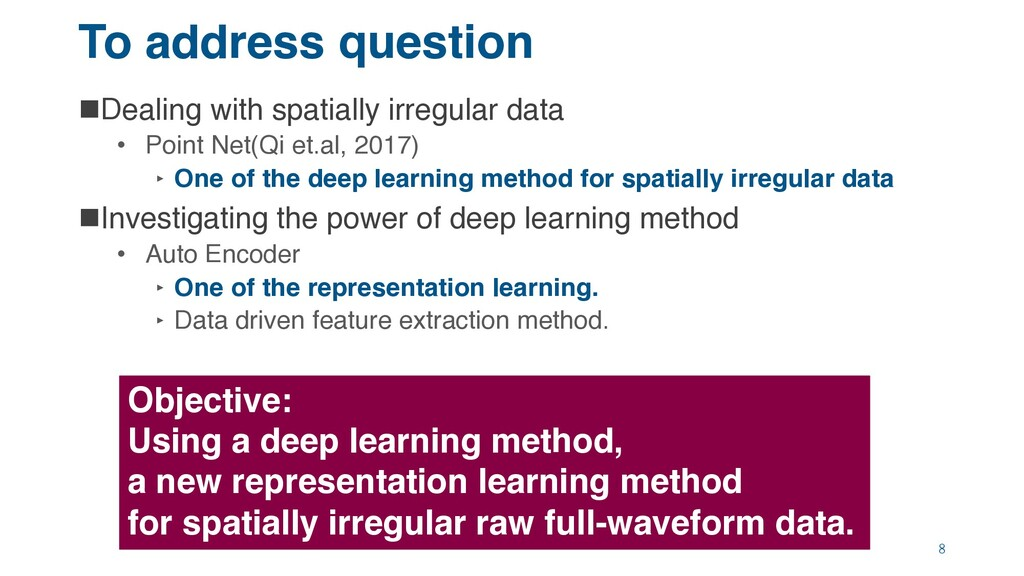 To address question nDealing with spatially irr...