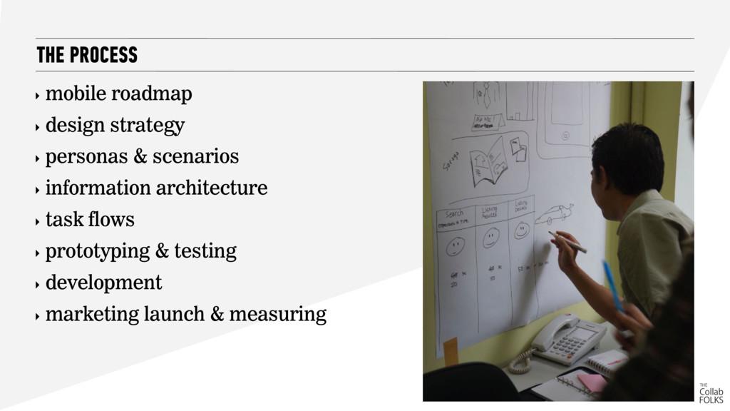 ‣ mobile roadmap ‣ design strategy ‣ personas &...