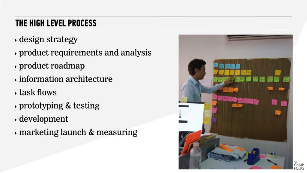 ‣ design strategy ‣ product requirements and an...