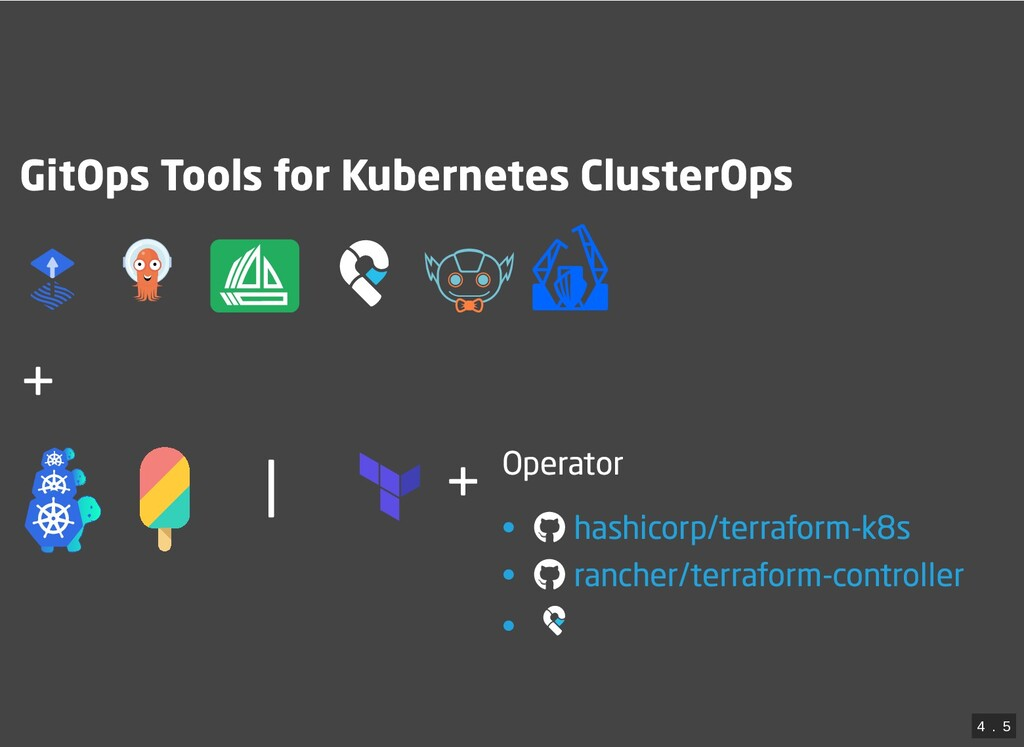 | + GitOps Tools for Kubernetes ClusterOps     ...