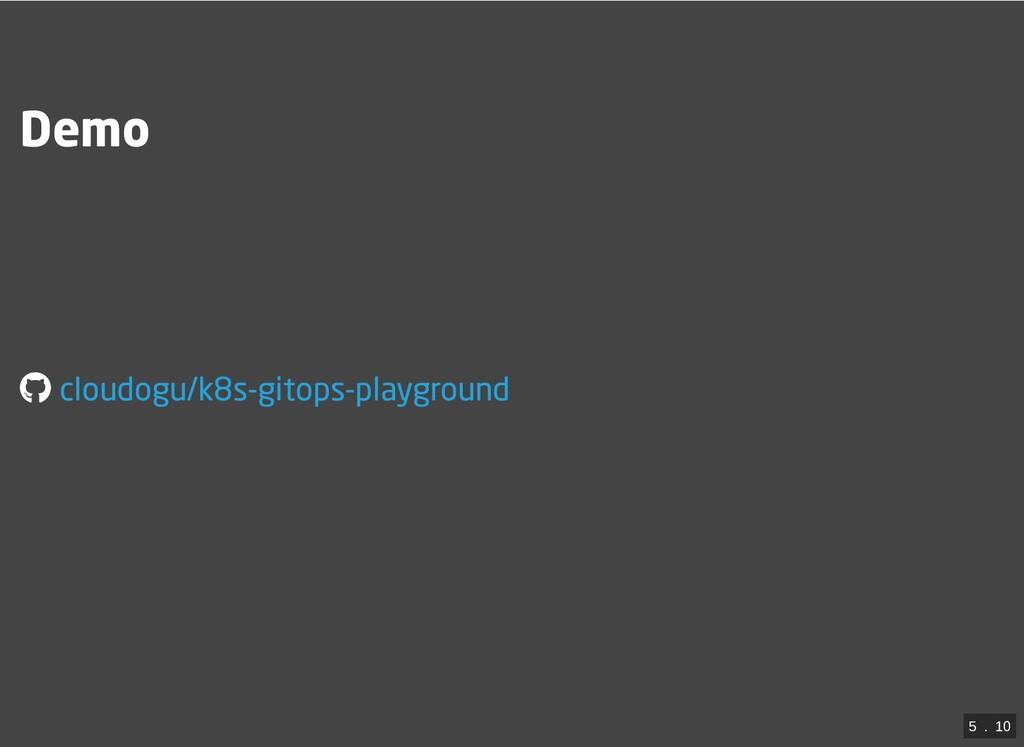 Demo cloudogu/k8s-gitops-playground 5  .  10