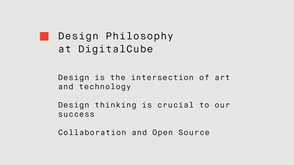 Design Philosophy at DigitalCube Design is the ...