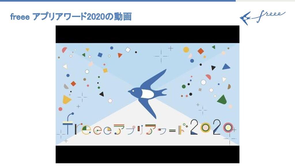 freee アプリアワード2020の動画
