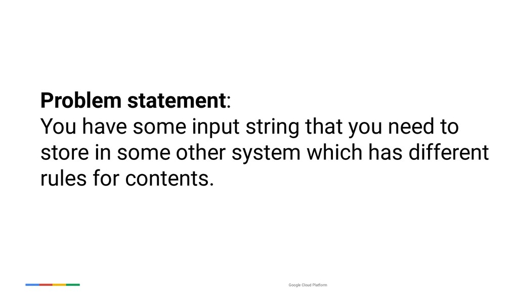 Google Cloud Platform Problem statement: You ha...