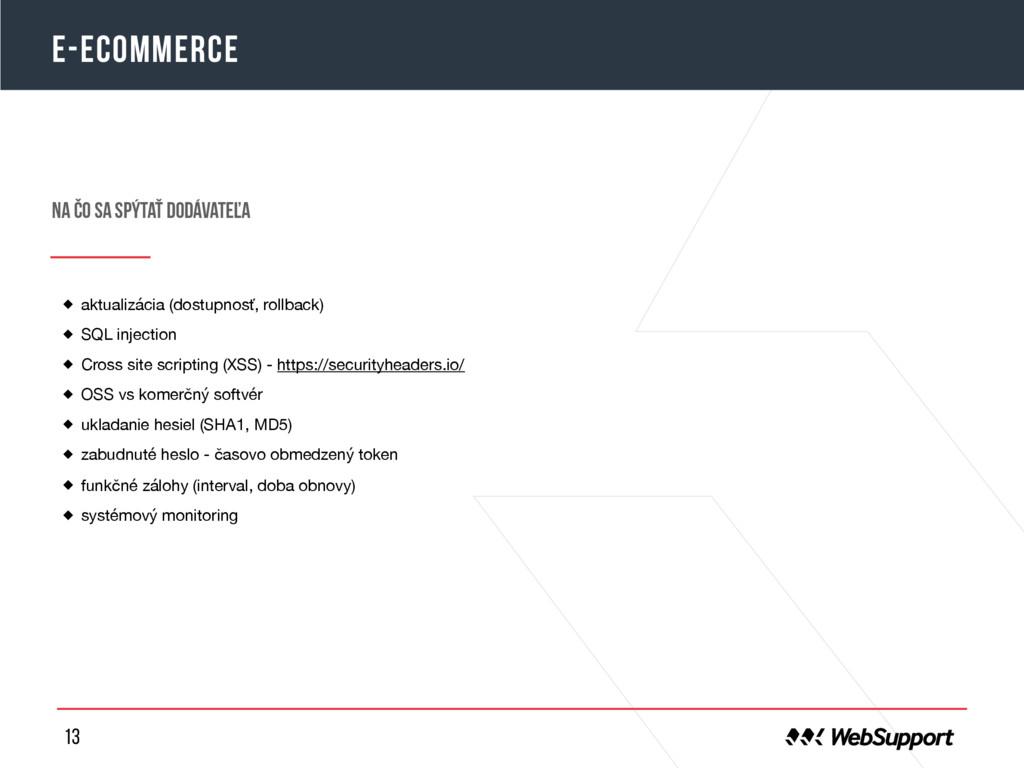 13 E-ecommerce aktualizácia (dostupnosť, rollba...