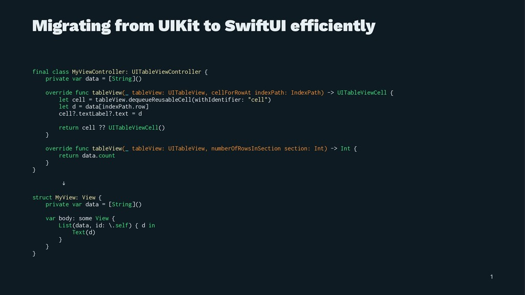 Migrating from UIKit to Swi!UI efficiently final...