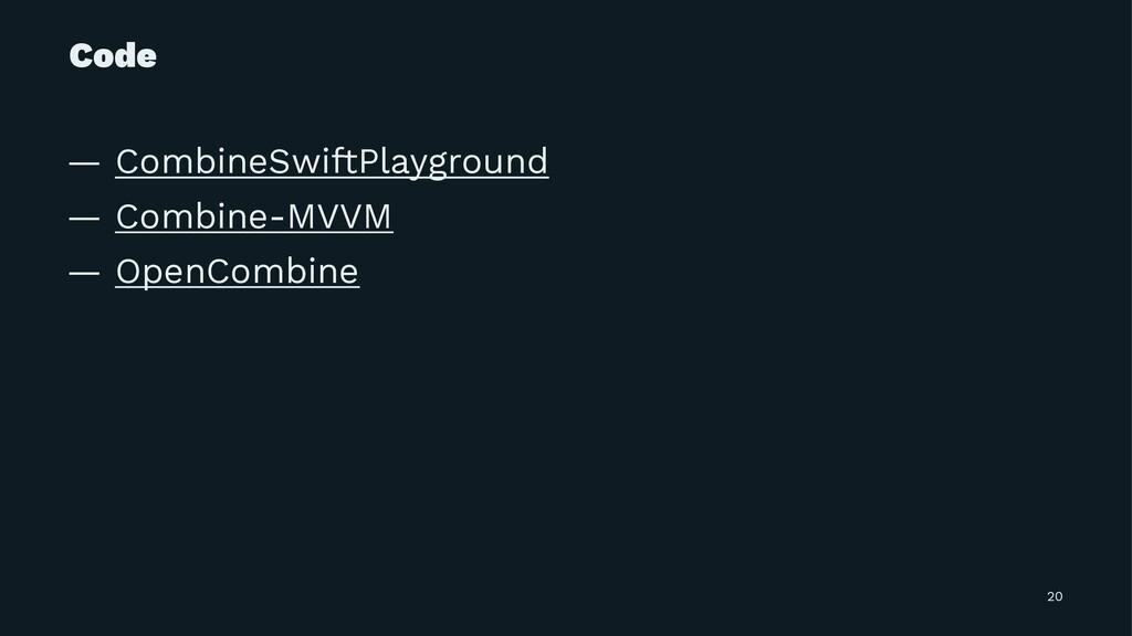 Code — CombineSwiftPlayground — Combine-MVVM — ...