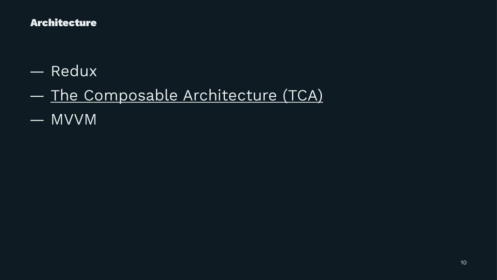 Architecture — Redux — The Composable Architect...
