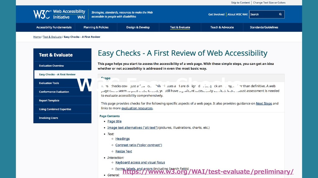 https://www.w3.org/WAI/test-evaluate/preliminar...