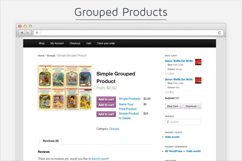Grouped Products